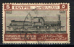 EGITTO - 1933 - International Railroad Congress, Heliopolis - USATO - Used Stamps
