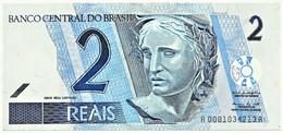 Brasil - 2 Reais - ND ( 2001 ) - Pick 249.a - Série 0001 - Unc. - Sign. 39 ( 1999 - 2001 ) - Brazil