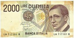 Italia - 2000 Lire - D. 1990 - Pick: 115 - Serie LA - G. Marconi - 2000 Lire