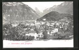 AK Interlaken, Blick über Die Stadt Gegen Die Jungfrau - BE Berne