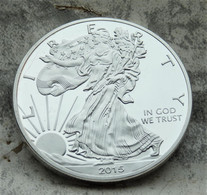 Pièce LIBERTY EAGLES ONE DOLLAR 2015 / 1 Oz TROY 32 G Argent Fine Silver Neuve - Sin Clasificación