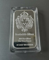 Barre Scottsdale Silver Tete De Lion / 1 Oz 999 Fini Silver Neuve En Capsule 31G - Sin Clasificación