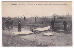 Rare CPA Aéroplane De M. Belin Fils, Destiné à étudier Les Vols Planés - Airmen, Fliers