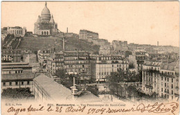 6GO 13 CPA - MONTMARTRE - VUE PANORAMIQUE DU SACRE COEUR - Sacré Coeur