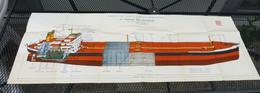 Plan En Coupe 102 X 38 Cm - Pétrolier De Type ALTAIR Chantiers De L'Atlantique - Other Plans