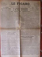 Journal Le Figaro N°300 (2 Août 1945) Assemblée Unique - Pierre Laval - Weygand - Comtesse Robert De Dampierre - Unclassified