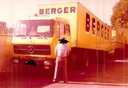 Photo Camion Publicitaire De Transport Berger Immatriculé  76 - Cars