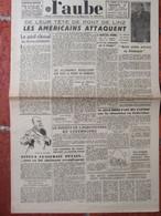 Journal L'Aube (14 Mars 1945) Esteva/Pétain - Américains Attaquent - Péril Clérical - Unclassified