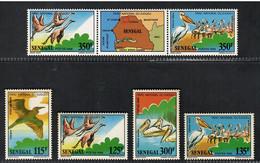 Senegal 1987, Bird, Birds, Pelican, Set Of 6v (with Tab), MNH** - Pelicans