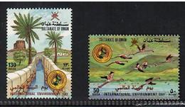 Oman 1987, Bird, Birds, Flamingo, Set Of 2v, MNH** - Flamingo