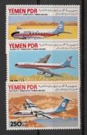 South Yemen (PDR) - 1981 - N°Yv. 247 à 249 - Airline Alyemda - Neuf Luxe ** / MNH / Postfrisch - Yémen