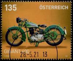 Motorräder XIII Gigant 600 OHV 1936 Österreich 2021 Gestempelt/used - 2011-... Afgestempeld