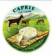"""Et. Fromage Pur Chèvre """" CAPRIE """" Fabriqué En Charente - Cheese"""