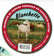 """Et. Fromage Mi Chèvre Fabriqué En Charente - """" Blanchette """" - Cheese"""