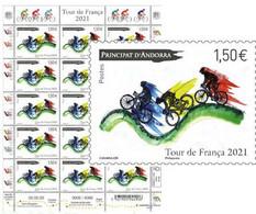 Tour De France 2021 à ANDORRE Feuillet De 15 - Blocks & Sheetlets