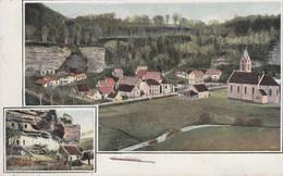 CPA  - ESCHBOURG  -GRAUFTHAL (BAS-RHIN) - BELLE CARTE 2 VUES - Other Municipalities