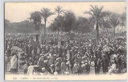 CPA EGYPTE LE CAIRE CAIRO THE BULAK MARKET 138 LL DOS DIVISE NON ECRIT - El Cairo