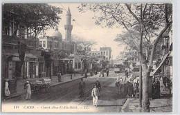 CPA EGYPTE LE CAIRE CAIRO CHAREH ABOU EL ELA BULAK 145 LL DOS DIVISE NON ECRIT - El Cairo