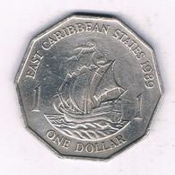 1 DOLLAR 1989  EAST CARIBBEAN STATES ANTILLEN /5857/ - West Indies