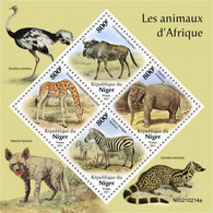 NIGER 2021 - African Animals, Ostrich. Official Issue [NIG210214a] - Ostriches