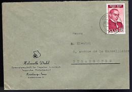 EN PROVENANCE DE LA SARRE - 1950 - - Cartas