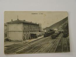 GARD-BESSEGES-LA GARE-TRAIN-ANIMEE - Bessèges