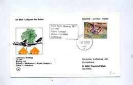 Lettre Premier Vol  Lufthansa  Boeing Mamaisie Frankfurt - Avions