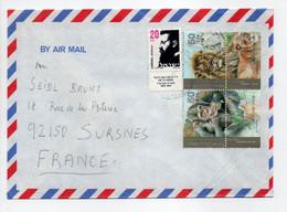 - Lettre Kfar HaMaccabi (Israël) Pour SURESNES (France) 1992 - Bel Affranchissement Philatélique - - Lettres & Documents