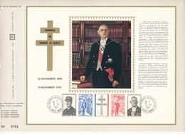 FRANCE - DOCUMENT HOMMAGE AU GENERAL DE GAULLE 9 NOVEMBRE 1971 CEF N°8792 - De Gaulle (General)