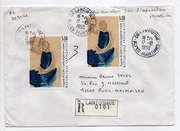 - Lettre Recommandée LANTOSQUE Pour RUEIL-MALMAISON 17.10.1990 - Bel Affranchissement Philatélique - - Lettres & Documents
