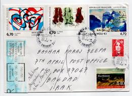 - Lettre SURESNES Pour BAGDAD (Irak) 26.2.1996 - Relations Suspendues - Retour à L'envoyeur - - Cartas