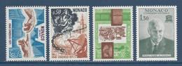 ⭐ Monaco - YT N° 855 à 858 - Neuf Sans Charnière - 1971 ⭐ - Unused Stamps