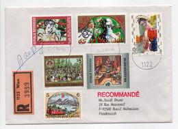 - Lettre Recommandée WIEN (Autriche) Pour RUEIL-MALMAISON (France) 25.3.1994 - Bel Affranchissement Philatélique - - 1991-00 Lettres