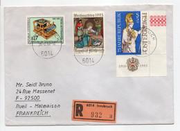 - Lettre Recommandée INNSBRUCK (Autriche) Pour RUEIL-MALMAISON (France) 28.2.1994 - Bel Affranchissement Philatélique - - 1991-00 Lettres