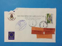 ITALIA STORIA POSTALE COMUNI D'ITALIA BUSTA DEL 1995 COMUNE DI AIELLO CALABRO COSENZA - 1991-00: Marcophilie