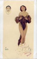 KIRCHNER - Les Péchés Capitauix : La Luxure  - Femme Demi-nue - Tête De Pierrot  (7488 ASO) - Kirchner, Raphael