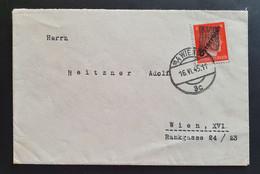 Österreich Klecksstempel 1945, Brief 8Pf. WIEN 16.VI. - 1945-60 Storia Postale