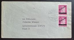 Österreich Aushilfsausgabe 1945, Brief Paar 6 Pf. WIEN 14.VI. - 1945-60 Storia Postale
