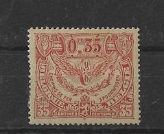 TIMBRE BELGIQUE  CHEMIN DE FER   TR 105X - 1915-1921