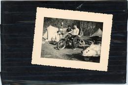 PHOTO ORIGINALE -  MOTO  A IDENTIFIER  VERS 1950 - Album & Collezioni