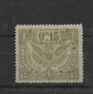 TIMBRE BELGIQUE  CHEMIN DE FER   TR 80X - 1915-1921
