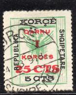 12CRT69 - ALBANIA  1918 , Yvert N. 59 Usato. Soprastampa Grossa - Albanië