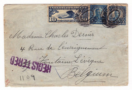Lettre Recommandée Registered USA 1927 Cachets Newport Rhode Island New York Foreign - 1a. 1918-1940 Used