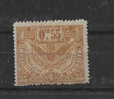 TIMBRE BELGIQUE  CHEMIN DE FER   TR 86X - 1915-1921
