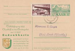 Sarre Entier Postal Illustré Saarbrücken 1956 - Entiers Postaux