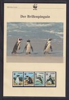 "1997  Namibia  WWF  ""Der Brillenpinguin""  Komplettes Kapitel - Lots & Serien"