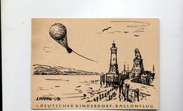 16MRC177 - GERMANIA , Cartoncino Del 12/4/1952 : DEUTSCHER KINDERDORF BALLONFLUG - Covers & Documents