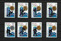 Olympische Spelen  1980 , Belize - Zegels Postfris - Hiver 1980: Lake Placid