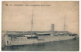 """CPA - DUNKERQUE (Nord) - Bâteau Excursionniste """"Ile De France"""" + Cachet Dos """"Camp Retranché De Dunkerque"""" 1914 - Dunkerque"""