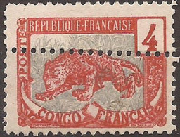 Congo Français  Variété De Piquage Double N(*) TTB - Ongebruikt